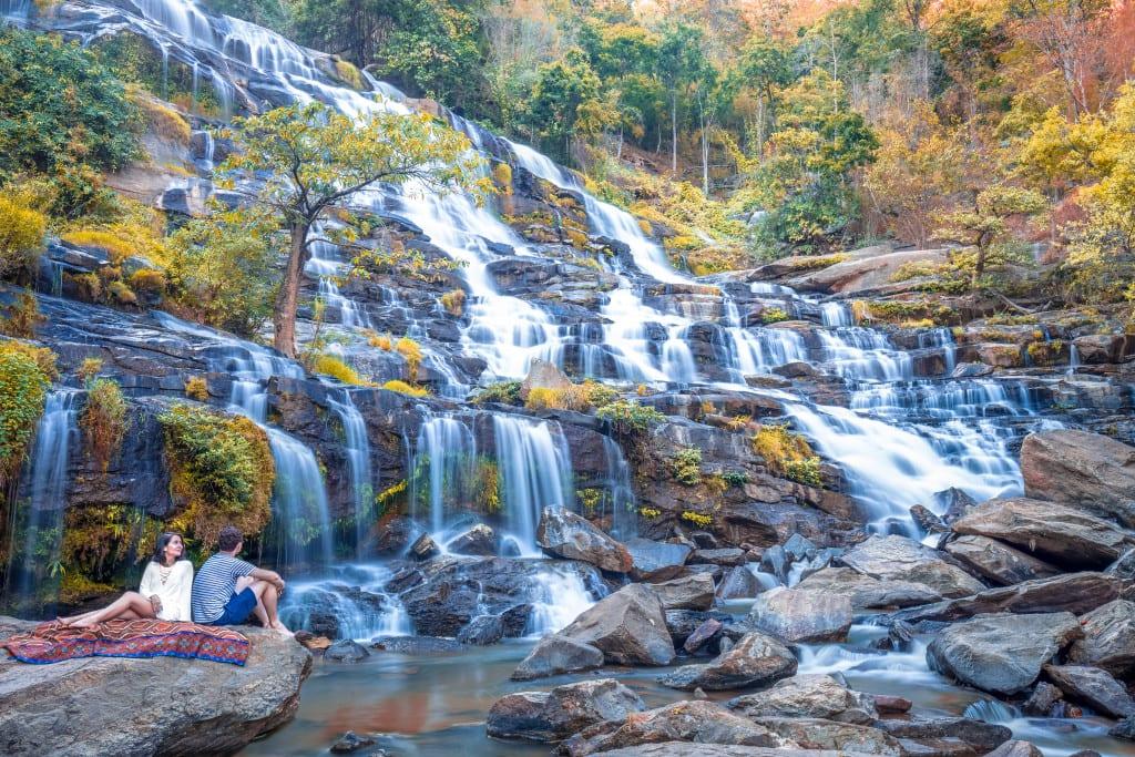 Mae Ya Waterfall In Doi Inthanon Four Seasons Chiang Mai